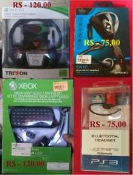 Headset de Wireless e Bluetooch Stereo para Ps3 e Xbox ( Valores variados )