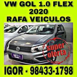 VW GOL 1.0 12V FLEX 2020 NA RAFA VEICULOS FALAR COM IGOR jjre