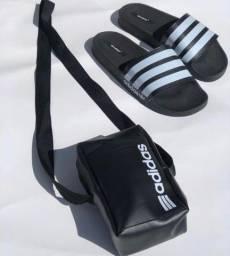 Sandália e bolsa adidas
