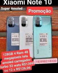 Note 10 Cinza e Verde  128gb/4Ram Versão Anatel Global