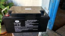 Bateria Estacionária Get Power de 70Ah 12V Seminova e com garantia