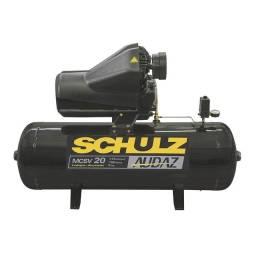 Compressor de ar Schulz 5hp 175l trifásico