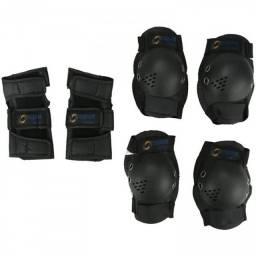 Kit de Proteção Infantil Spin Roller: 1 Par de Joelheiras + Cotoveleiras + Munhequeiras