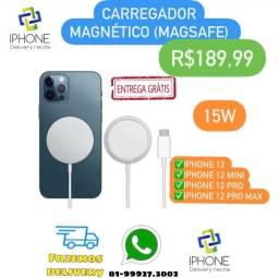 Carregador Magsafe Magnético Iphone 12 (Entrega Grátis)