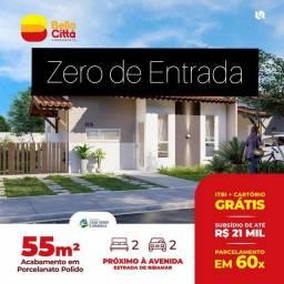 72* Casa na região de Ribamar, com Piso porcelanato e 02 quartos