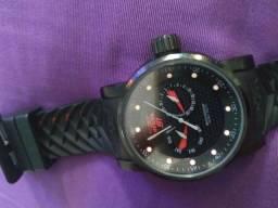 Relógio invicta ninja preto com vermelho