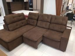 Sofá de canto retrátil e reclinável