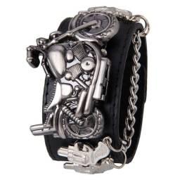 Relógio de pulso Motoqueiro metal rock vintage