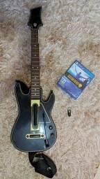 Guitarra Guitar Hero + jogo + Dongle Receptor usb para play 4