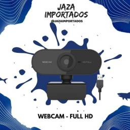 Webcam Full HD 1080p - Boa qualidade para aulas e reuniões online