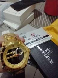 Relógio naviforce dourado nf9163 100% original!!