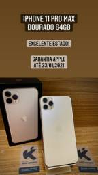 iPhone 11 Pro Max Dourado - Estado de zero! Completo.