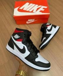 Tênis Bota Nike Cano Alto Air Jordan 1 Chicago Retro