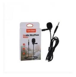 Microfone Lapela Lavalier Profissional Smartphone Celular P2<br><br>