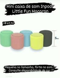 Mini Caixa de Som Littlefun Macaron