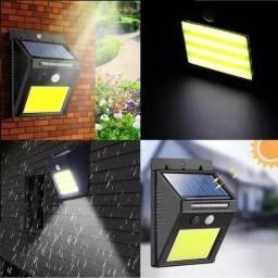 Luminária De Parede Energia Solar Com Sensor De Movimento
