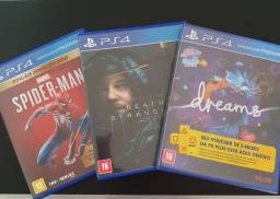 Spiderman, Death Stranding e Dreams.