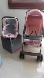 Kit Carrinho com bebê conforto