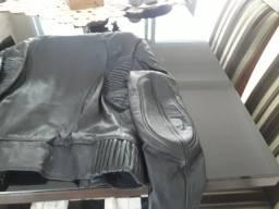 Jaqueta de couro sem uso