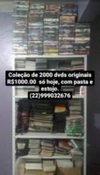Coleção de 2000 DVDs originais com pasta e estojo