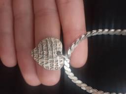 Cordão de prata feminino valor 80$$ *