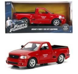 Miniatura Velozes e Furiosos Ford F-150 SVT Lightning Brian 21cm 1:24