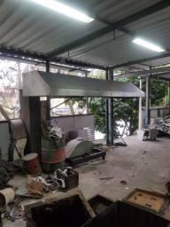 Coifa para cozinha industrial ( sistema de exaustão )