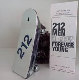 Perfume Masculino Importado 212 MEN Heroes 90 ml - Carolina Herrera - Original + Brindes