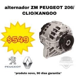 Alternador 75A Novo Peugeot 206/Renault Clio/Kangoo