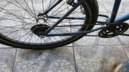 Bicicleta aro 26 garfo bengala pneu novo
