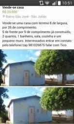 Vende-se casa em São Julião - PI