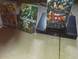 Aparelho dvd da marca LG Divx com 3 dvds encruidos gratis