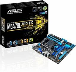 Placa Mae Asus m5a78l le ddr3 Socket am3+ Chipset Amd + 8Gb Memória ddr3