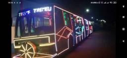 Trenzinho da Alegria em ônibus biarticulado