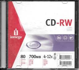 CD-RW iomega® 80 min / 700 MB / 4 a 12x