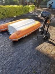 Bote Inflável fundo rígido com motor Mercury 3.3 hp