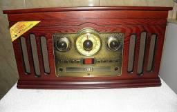Toca disco CD Fita K7 Rádio