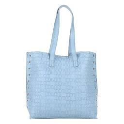Bolsa Colcci Shopper Croco Tachas Feminina - Azul Claro