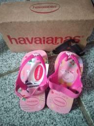 Sandalia havaiana pepa pig