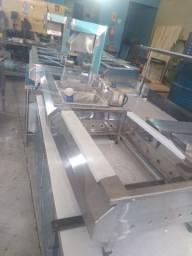 Estação inox para lanchonete hamburgueria Chapa fritadeira sob medida