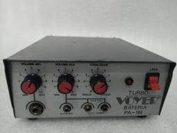 Amplificador,12a13,8volts,com entrada pra microfone e outros
