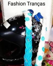 Tranças para capacete