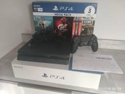 Troco por Pc gamer: PS4 slim 1tb + nota fiscal!! 5 meses de uso, zerado!!