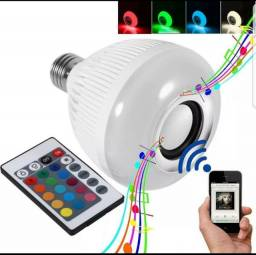 Lampada Led Musical Caixa De Som Bluetooth Led Rgb Com Controle