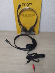 Headset Bright 0010 Office, com microfone