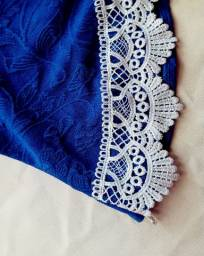 Blusa peplum azul