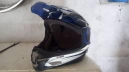 Capacete de bike DH asw + viseira espelhada