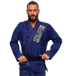 Kimono Jiu Jitsu Jiu-Jitsu Naja Brave Azul Reforçado Adulto Somos Loja