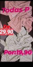 Blusinhas de 20 reais