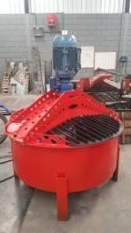 Misturador de concreto para máquina de blocos